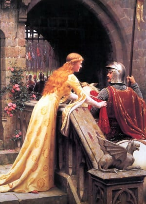 God Speed! by Edmund Blair Leighton, 1900: a late Victorian view of a ...