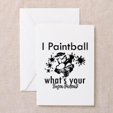 Paintball Greeting Card for