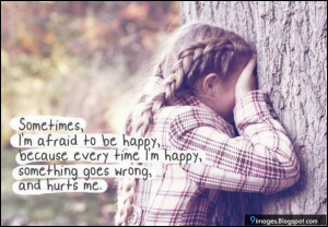 sad little girl alone