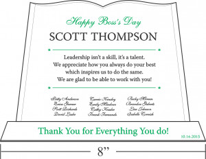 Thank You Gift Plaque for Boss | DIY Awards