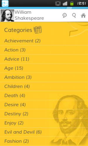 William Shakespeare Quotes - screenshot