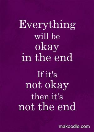 Everything Will Be Okay – Free Printable