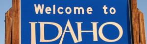 idaho state welcome sign