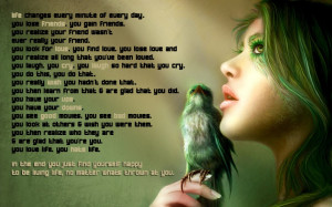 ... Life: Girls Birds Quotes And The Sayings About Being Somebody Great