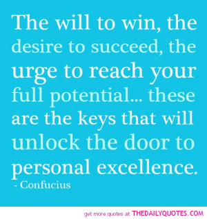 Confucius the Will to Win Quotes