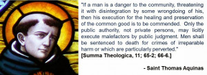 quote from thomas aquinas in favor of the death penalty a quote ...