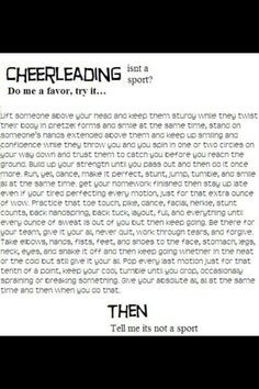 Cheerleading Is A Sport Quotes Tumblr I love cheer and its a sport