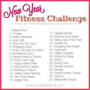 New Year Fitness Challenge - In Photos with www.OneRollataTime.com