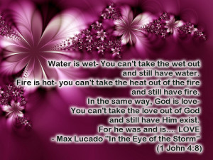 Max Lucado quote- God is Love ☺