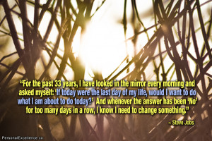 "Inspirational Quote: ""For the past 33 years, I have looked in the ..."