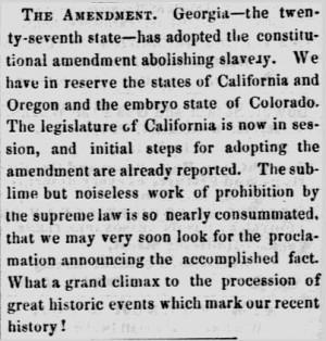 13th 14th 15th Amendments Constitution