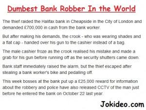Bank Robbery JokeFunniest Clean Jokes