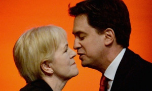 Johann Lamont with Ed Miliband at the Scottish Labour conference
