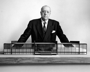 ... you one of the greatest architects of all time, Mies van der Rohe
