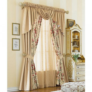 Waterfall Curtains with Valances