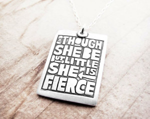 Motivational quote necklace - Shakespeare - silver inspirational quote ...