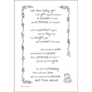 Our New Baby Girl Is A Gift Beyond Measure - Baby Quote