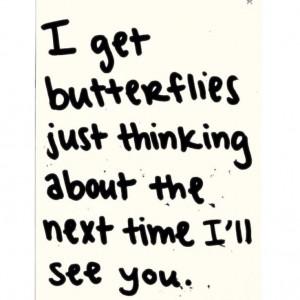 get butterflies