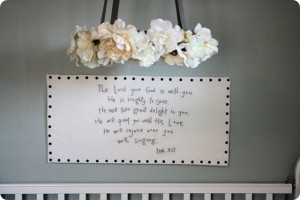 From Jones Design Company, I love her little girl's nursery room: