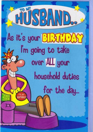 funny birthday wishes for husband from wife
