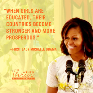 Forget the Bangs! Michelle Obama Has Something to Say About Educating ...