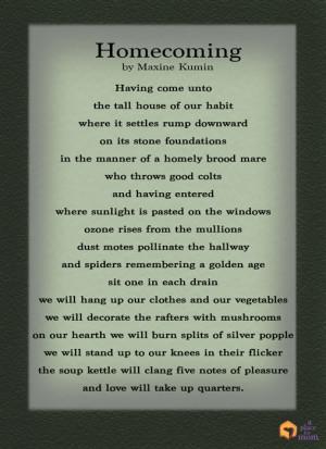 Church Homecoming Poems