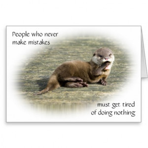 Card - Cute Baby Otter famous quote