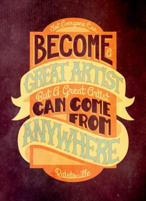 Typographic Illustrations Of Quotes From Pixar Movies