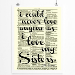 Sister Quote, Sisters Art, Sorority Decor printed on 1897 Dictionary ...