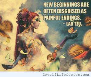 Lao Tzu quote on New Beginnings