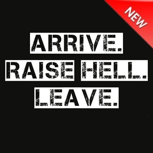 NEW-FUNNY-T-SHIRT-Arrive-Raise-Hell-Leave-wwe-wwf-quote