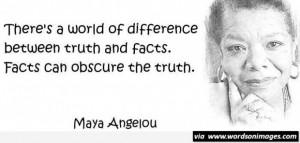Maya angelou truth