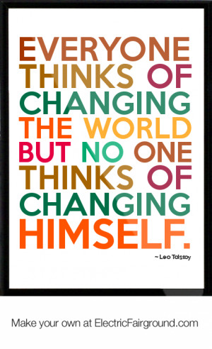 Leo Tolstoy Framed Quote