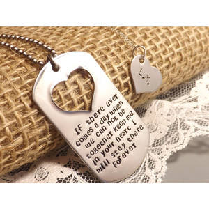 Hand Stamped Winnie the Pooh Quote His and Her Dog Tag Set-Military ...