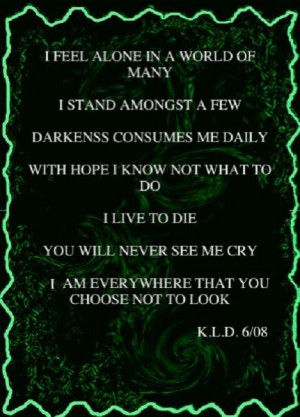 Feel Alone In A World Of Many……
