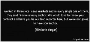 More Elizabeth Vargas Quotes