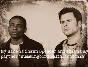 Shawn Spencer and this is my partner