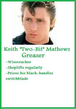 Two-Bit Mathews Trading Card~ The Outsiders by jasmineweasley