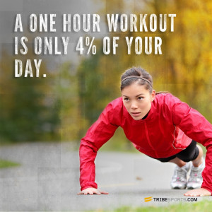 one hour workout is only 4% of your day. #getsweaty www.sweatybands ...