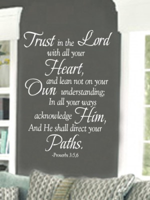 Trust in the Lord 23x36 Vinyl Lettering Wall Quotes Words Sticky Art
