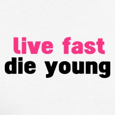 White black live fast die young Long sleeve shirts