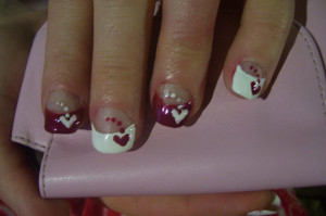 Dotted Hearts For Valentines Day Nails. Quotes On Valentine Day Nail ...