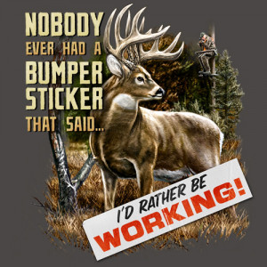Home Mens T-Shirts Funny Hunting T-Shirts Bumper Sticker - Deer