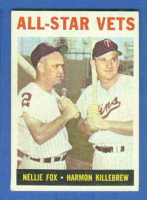 ... Topps #.81 'All-Star Vets' (Nellie Fox/Harmon Killebrew) Baseball card