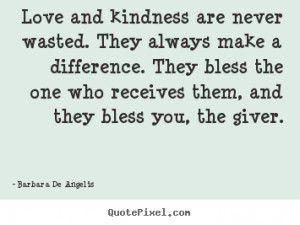 ... bless the one who receives them, and they bless you, the giver