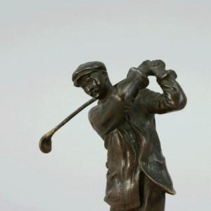 Harry Vardon Bronze Golf Statue - For Sale