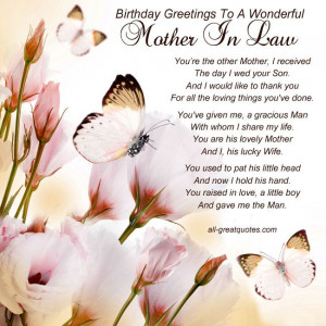 Birthday Greetings To A Wonderful Mother In Law: Mother In Law Happy ...