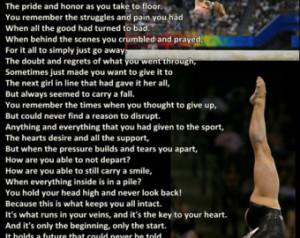 Gymnastics Poster Shawn Johnson Cha mpion Poem Olympic Gymnast Quote ...