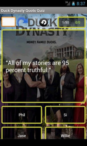 View bigger - Duck Dynasty Quotes Quiz for Android screenshot