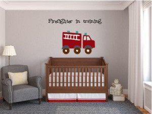 Firefighter in training vinyl wall art quote on Etsy, $29.99